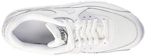 Nike Air Max 90 Mesh (Gs) Kinder Unisex Sneaker Weiß - Blanc (Blanc/Blanc-Cool Grey)