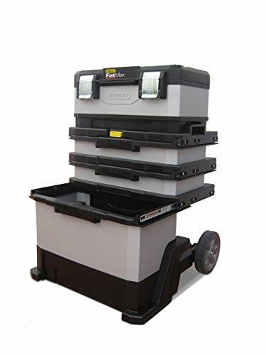 Leerer Werkstattwagen : Stanley FatMax Rollende Werkstatt aus Metall-Kunststoff 1-95-622 – Werkzeugwagen leer