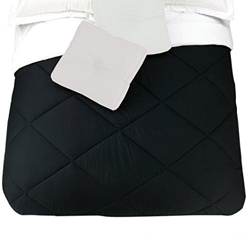 Presidio quadratisch Collection Wende Baumwolle Tröster, Queen, schwarz/weiß (Schwarz Tröster)