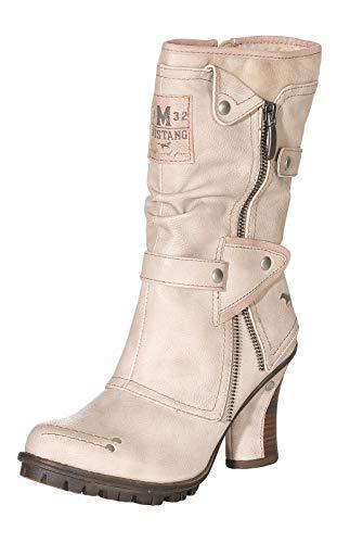 Mustang Shoes Damen Stiefeletten 1141-606-243 Ivory 38