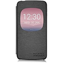 "Alcatel G6045-3AALAFG - Funda con ventana para Alcatel Idol 3 de 5.5"", color gris"