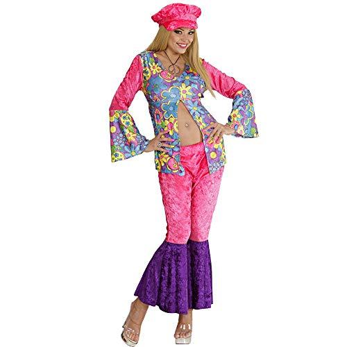 Widmaan costume carnevale donna hippie figli dei fiori anni 60 ps 28705-m