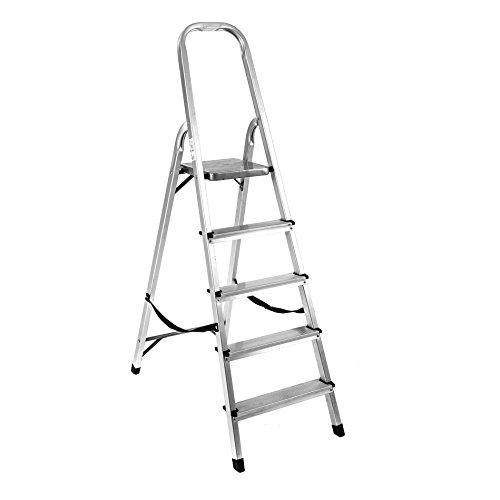 Aluminium Klappleiter mit 2,3,4,5 oder 6 Stufen (5 Stufen)