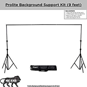 Prolite Background Support Kit (9ft x 9ft) for Backdrop Photography & Videography with Carry Bag
