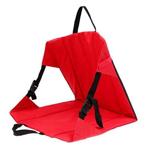 zhbotaolang Stade Siège Coussin Camping Chaise - Plage Jardin Fête Arrière-Cour Pliable Portable Pique-Nique Randonnée Loisir Séance Tampon Rouge