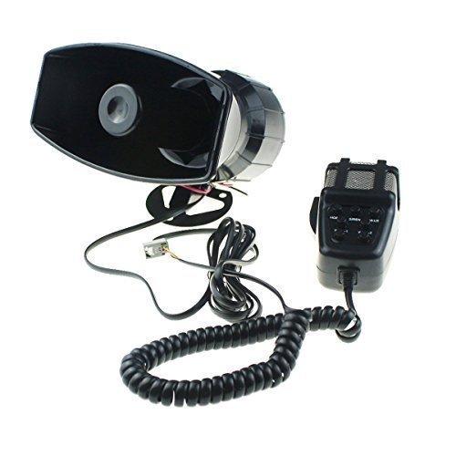 Fanfare Auto Hupen Signalhörner 12V Autosirene 5 Töne Mikrofon (80W 7 Töne) (Lkw-alarm-system)