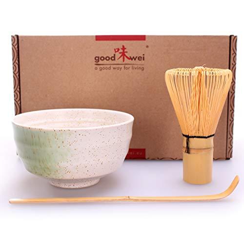 Goodwei Set di Tè Matcha Giapponese (Bianco)