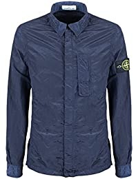Stone Island Jacket - Spring Summer 2018 Nylon Metal Watro Ink Blue Overshirt – RRP £295 (681510844 V0026)