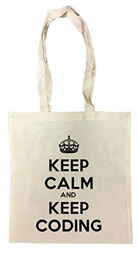 Keep Coding Einkaufstasche Wiederverwendbar Strand Baumwoll Shopping Bag Beach Reusable ()