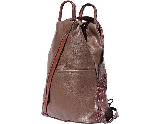 Florence Leather 207, Borsa a zainetto donna Black, Bordeaux & Tan (multicolore) - 207 Dark Taupe & Brown
