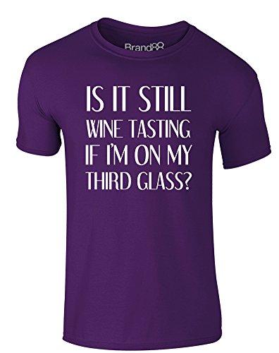 Brand88 - Wine Tasting, Erwachsene Gedrucktes T-Shirt Lila/Weiß