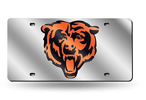 Rico NFL Laser Cut Auto Tag, Unisex-Erwachsene, Chicago Bears, One Size Fits All