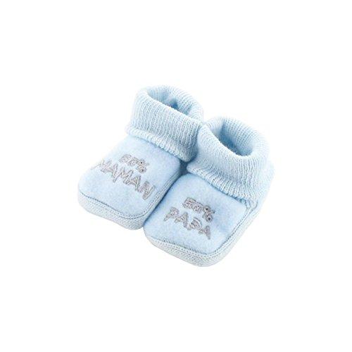 Chaussons pour bébé 0 à 3 Mois bleu - 50 Maman 50 Papa