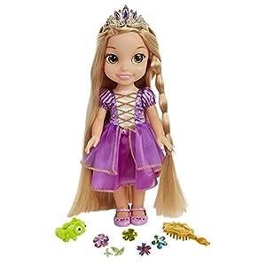 Glop Games- Rapunzel Muñeca con Sonidos,, 35 cm (Jakks Pacific 3.0)