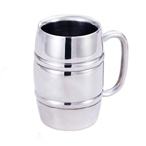 Tasses mugs et soucoupes Tasses à expresso Gobelet tasse 12 oz créatif KTV bar tasse de bière en acier inoxydable mélange tasse tasse en acier inoxydable double tasse isolée tasse de grande capacité