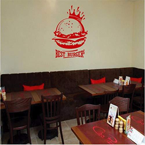 Lsfhb Kinderzimmer Wandtattoo Aufkleber Fast Food Hamburger Fast Food Snack44X70Cm