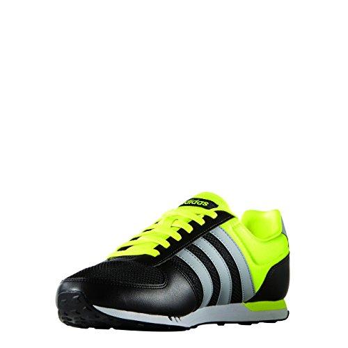 adidas Herren City Racer Turnschuhe, 42 EU Schwarz / Gelb / Grau (Negbas / Onicla / AMASOL)