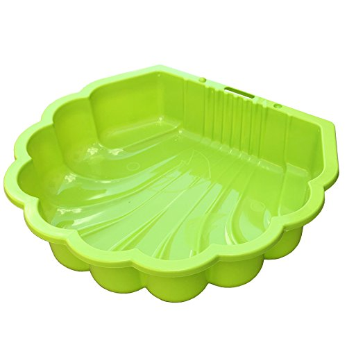 Tiktaktoo Sand & und Wassermuschel I Sandkasten mit Abdeckung (Bei 2 Stück) I (Apfelgrün)