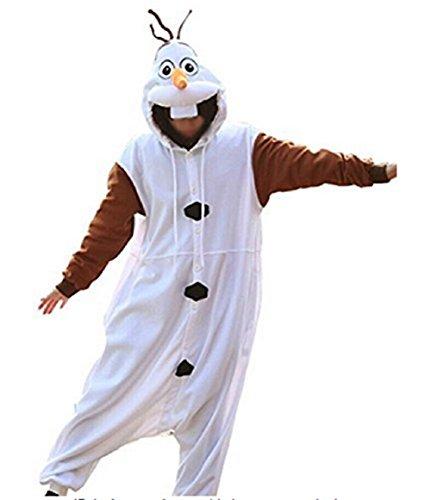(Canberries® Tier Onesie Jumpsuits Olaf Pyjama Oberall Hausanzug Kigurum Fastnachtskostuem Schlafanzug (M, Olaf))