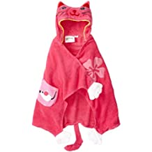 Kidorable Lucky Cat All-Cotton Toalla con Capucha de Color Rosa para Las niñas W