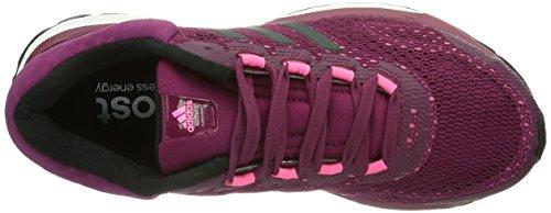 Adidas Response Boost Women's, Chaussure De Course à Pied Rose - Pink (Vivid Berry S14 / Black 1 / Neon Pink)