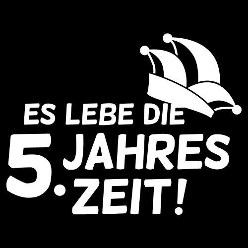 ::: ES LEBE DIE 5. JAHRESZEIT ::: T-Shirt Herren Schwarz mit weißem Aufdruck