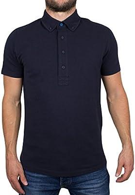 Ellesse Hombre Camisa Polo Italia Reatini, Azul