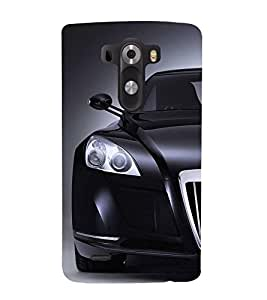 FUSON Superb Black Sports Car 3D Hard Polycarbonate Designer Back Case Cover for LG G3 :: LG G3 Dual LTE :: LG G3 D855 D850 D851 D852