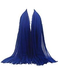Echarpes et foulards Amlaiworld Femmes Hijab pour femmes musulmanes voilées  I Foulard voile turban écharpe pashmina châle islamique I Mousseline… 81db6a5f241