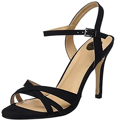Buffalo 312703 Imi Suede, Sandales Bride Cheville Femme, (Black 01), 36 EU