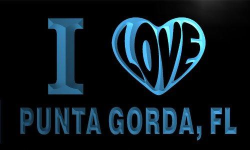 v52362-b I Love PUNTA GORDA, FL FLORIDA City Limit Neon Sign Barlicht Neonlicht Lichtwerbung