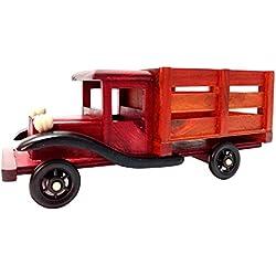 Ek-Do-Dhai mano de madera del arte Sadda Camión Snack-Bandeja para servir 23.5 x 7.8 x 8.8