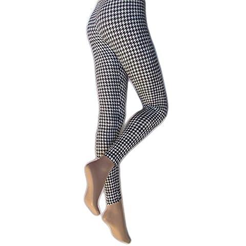Silky - Leggings imprimé pied-de-poule - Femme (Medium) (Noir/Blanc)