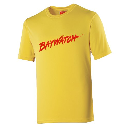 Licensed Baywatch Logo Cooltex Yellow T-shirt - S to XXL