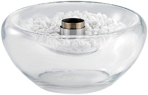 *Carlo Milano Tisch Kaminfeuer: Schwimmendes Glas-Dekofeuer für Bio-Ethanol (Kleine Gelkamine)*