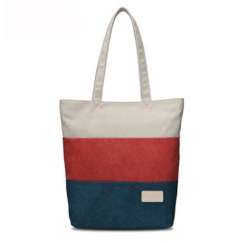 Damenmode Segeltuchtasche Strandtasche Schultertasche Handtasche Messenger bag 5