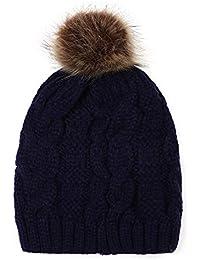 Elecenty Cappellino per berretto invernale con berretto di lana lavorato a  maglia Berretto Sci in maglia ded905bb8014