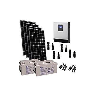 puntoenergia Italien-Kit Solar Hütte 1200W 24V Pro Panel Regler Inverter 3000W BATTERIE 165Ah-kba-1200X P-24-3000-b165-avf