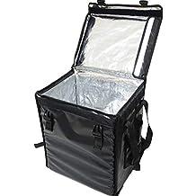 Bolsa de entrega de pizza y alimentos, térmica, PK-66VBolsa de entrega de pizza y alimentos aislante, térmica de carga superior con cierre de velcro, ...