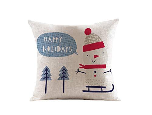L&Z Pillow Cartoon Christmas Element Literary Cotton Cushion Sofa Office Cushion Model Room...