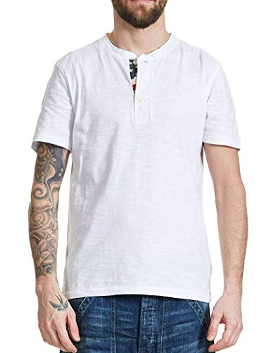 3775166e Denim & Supply by Ralph Lauren Men's Short Sleeve T-Shirt Top Flag Placket  Henley