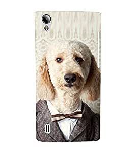 EPICCASE Dog in suit Mobile Back Case Cover For Vivo Y15 (Designer Case)