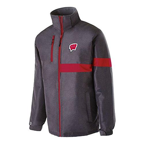 NCAA Herren Jacke Raider, herren, Raider Jacket, Carbon Print/Scarlet, 2X Scarlet Zip