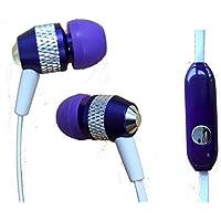 Super Bass intra-auricolari con isolamento acustico 3.5mm stereo auricolari/cuffie/vivavoce/auricolari per Verizon wireless Ellipsis 7(viola) + pennino capacitivo Mynetdeals