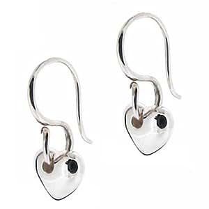 Dinny Hall Sterling Silver Classic Heart Drop Earrings