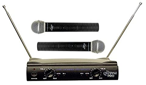 Pyle-Pro PDWM2500 Dual VHF Microphone System