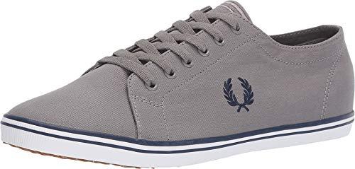 Fred Perry Kingston Twill Sneaker Herren Grau/Blau - 41 - Sneaker Low