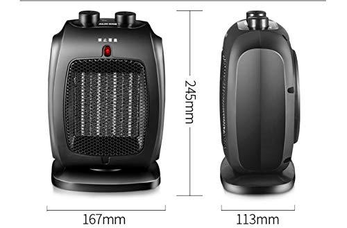 Heating Calentador, Baño Doméstico, Pequeña Energía Solar, Calefacción, Calentador de Ahorro de Energía, Mini Calentador de Oficina,Negro,Un tamaño