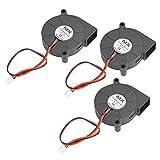 YOTINO 3 Stück DC 12V Lüfter Ventilator für 3D Drucker 50 x50 x 15mm schwarz