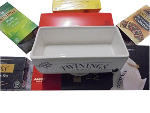 PZ 250 TE' TWININGS + 1 PORTA BUSTINE IN CERAMICA CADDY+TISANE CAMOMILLE EARL GREY TEA ENGLISH BREAKFAST INTENSE PREMIUM